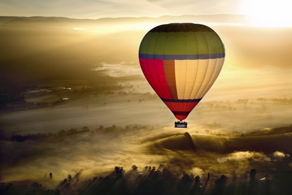 Ballooning and wine tour in Victoria's Yarra Valley
